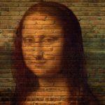 Bild von Mona Lisa auf eine Mauer
